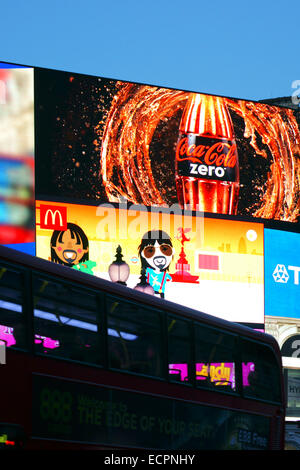 Billboard Piccadilly Circus - Stock Photo