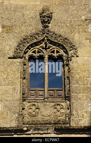 Facade detail from the Cathedral, 16th century, at Santa María's square, Baeza, Jaen province, Andalusia, Spain, - Stock Photo