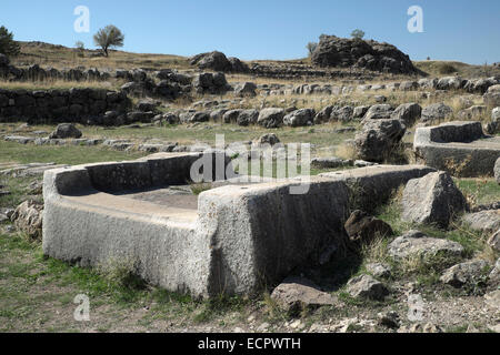Ruins of the Hittite town of Hattuša, near Bogazkale, Çorum Province, Turkey - Stock Photo