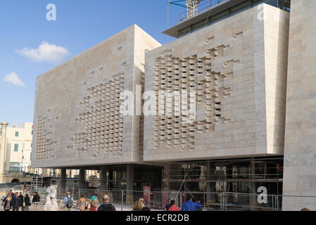 New Parliament Building planned by Renzo Piano in Valletta, Malta - Stock Photo