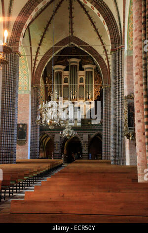 Marcussen Schuke organ of the St. Peter's Cathedral to Schleswig. It is one of the most important monuments of Schleswig - Stock Photo