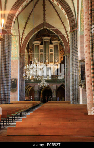 Marcussen Schuk organ of the St. Peter's Cathedral to Schleswig. It is one of the most important monuments of Schleswig - Stock Photo