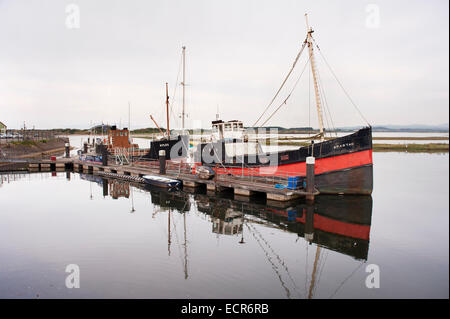 Part of the floating boat collection of the Scottish Maritime Museum, including the puffer Spartan. Irvine, Scotland, - Stock Photo