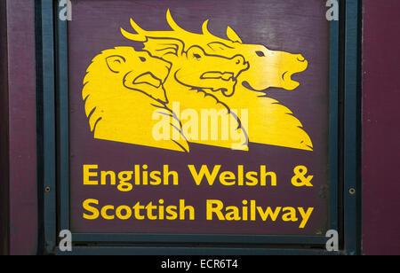 ews english welsh and scottish railway logo class 67 diesel locomotive inverness - Stock Photo