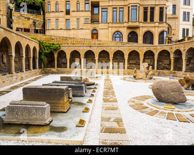Ancient Market in Old City of Baku, Azerbaijan - Stock Photo