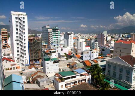 Cityscape of Nha Trang, Vietnam. - Stock Photo