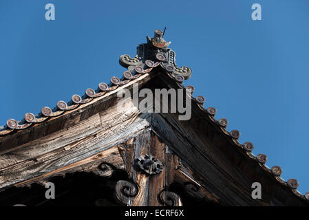 Japanese temple building details, Japan. - Stock Photo