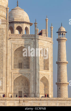 Agra India Working On Marble Table To Inlay Stones Stock