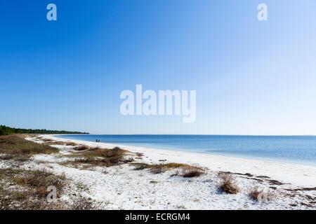 Carrabelle Beach off  US 98 east of Apalachicola, Franklin County, Gulf Coast, Florida, USA - Stock Photo