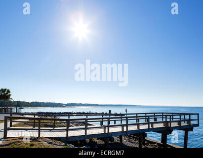 The waterfront at Port St Joe, Franklin County, Gulf Coast, Florida, USA - Stock Photo