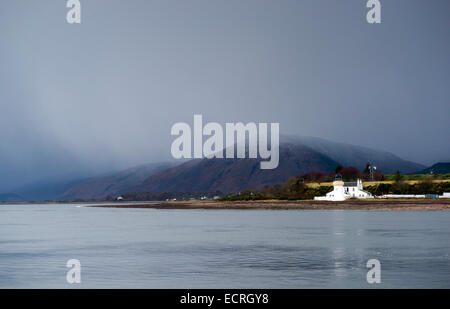 Loch Linnhe looking over towards Corran, near Fort William in Scotland UK - Stock Photo