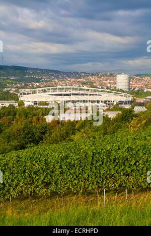 THE MERCEDES-BENZ ARENA, FOOTBALL STADIUM OF THE VFB STUTTGART, BAD CANNSTATT, STUTTGART, BADEN-WURTTEMBERG, GERMANY - Stock Photo