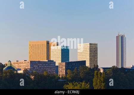 OFFICE BUILDINGS, EUROPEAN UNION, EUROPEAN QUARTER, KIRCHBERG DISTRICT, LUXEMBOURG CITY, LUXEMBURG, LUXEMBOURG - Stock Photo