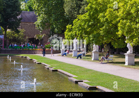 PARK OF THE ELECTORAL PALACE, KURFUERSTLICHES PALAIS, TRIER, TREVES, RHINELAND-PALATINATE, GERMANY - Stock Photo