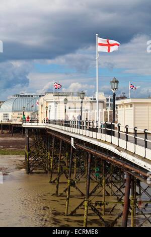 PIER IN WORTHING, SEASIDE RESORT, SUSSEX, ENGLAND, GREAT BRITAIN - Stock Photo
