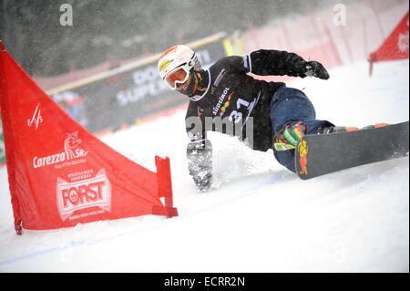 Carezza, Italy. 16th Dec, 2014. Kentaro Yoshioka (JPN) Snowboarding : FIS Snowboard World Cup Men's Parallel Giant - Stock Photo