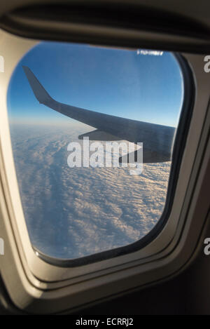 View out airplane window. - Stock Photo