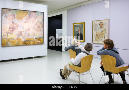 Italy, Milan, people in the Museum of the twentieth century - Stock Photo