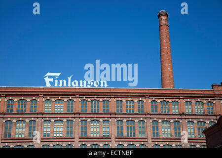 finlayson, ex cotton factory now offices, tampere, finland, europe - Stock Photo