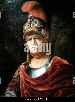 Man in golden helmet (Mars), by Ferdinand Bol - Stock Photo