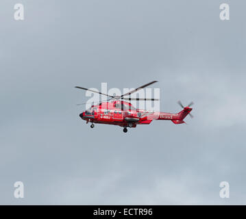 Bond Offshore industries Eurocopter AS332L2 Super Puma Helibus, Aberdeen Dyce Airport.  SCO 9368. - Stock Photo