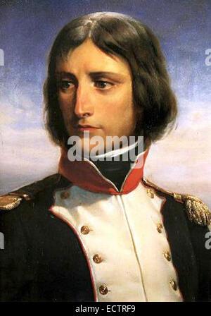 Napoleon Bonaparte, aged 23, Lieutenant-Colonel of a battalion of Corsican Republican volunteers - Stock Photo