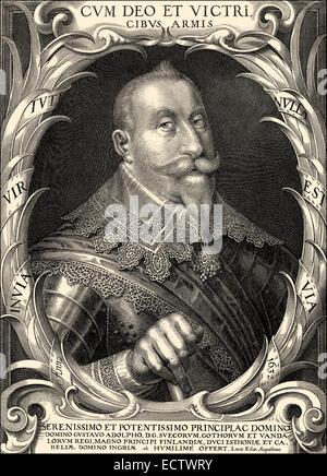 Gustav II Adolf, 1594 - 1632, King of Sweden from the ruling family of Vasa , - Stock Photo