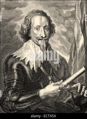 Gottfried Heinrich Graf zu Pappenheim, 1594 - 1632, a general in the Thirty Years' War for the Catholic League , - Stock Photo