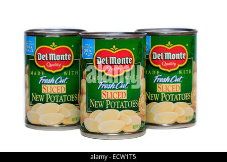 Del Monte Foods Canned Sliced New Potatoes - Stock Photo