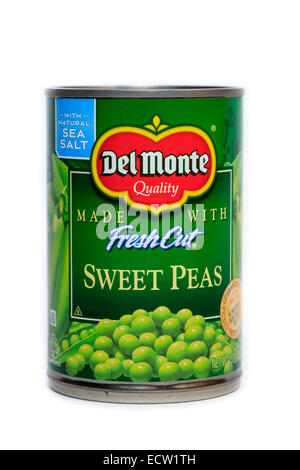 Del Monte Foods Canned Fresh Cut Sweet Peas - Stock Photo