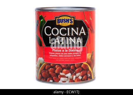 Bush's Best Cocina Latina Pintos a la Diablo Pinto Beans - Stock Photo