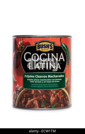 Bush's Best Cocina Latina Frijoles Charros Machacados - Stock Photo