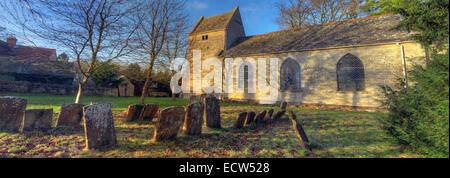 St Marys Church Ardley, Oxfordshire, England, United Kingdom panorama - Stock Photo