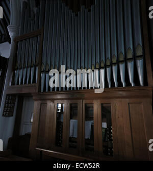 Holy Trinity Church Woodgreen Witney Pipe Organ, West Oxfordshire, England, UK - Stock Photo
