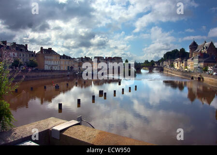 Chateau Gontier, Mayenne, France - Stock Photo