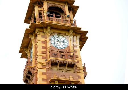 Clock Tower,Ghanta Ghar,Monument,Ancient,Jodhpur,Rajasthan,India,Landmark,Clock,Architecture,Building - Stock Photo