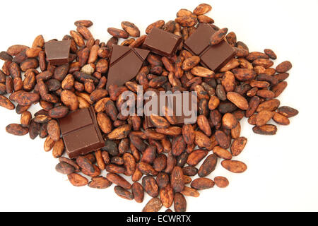 Cocoa Beans And Chocolate Bar Stock Photo 87722883 Alamy
