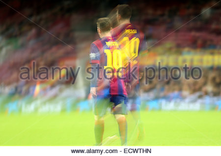 Barcelona, Spain. 20th Dec, 2014. Leo Messi in the match between FC Barcelona and Cordoba CF, for the week 16 of - Stock Photo