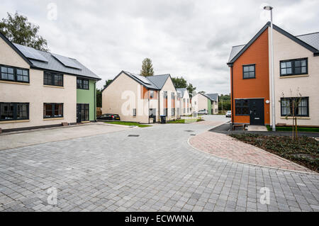 New housing built on the former Kelso Allotment Society land in the the Scottish Borders - Stock Photo
