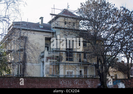 An old building being renovated . - Stock Photo