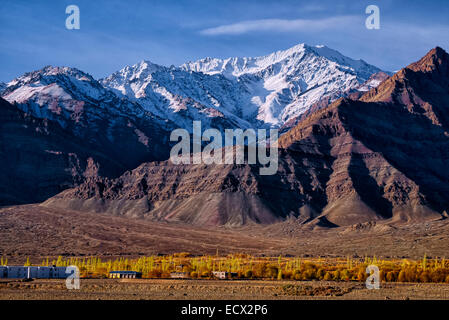 Ladakh countour, Leh, Jammu Kashmir, India - Stock Photo