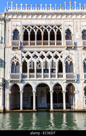 Ca D'Oro, the venetian house of gold on Canal grande - Stock Photo
