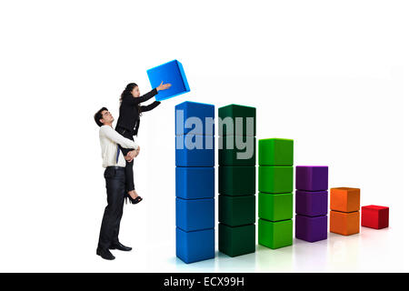2 indian Business Employee Colleague - Stock Photo
