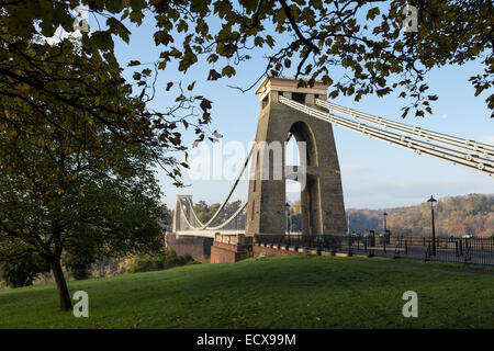 Clifton Suspension Bridge in Clifton, Bristol - Stock Photo