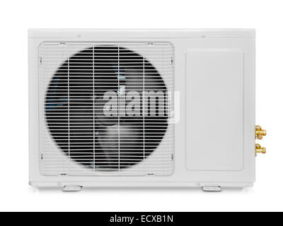 Air condition compressor  isolated on white - Stock Photo