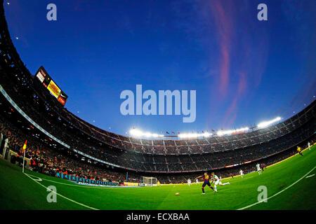 Barcelona, Spain.  20th Dec, 2014. General view Football/Soccer : Spanish Primera Division 'Liga BBVA' match between - Stock Photo