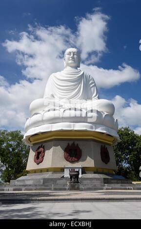 Buddha of Long Son pagoda. Nha Trang, Vietnam - Stock Photo