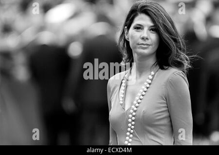 VENICE, ITALY - AUGUST 31: Actress Marisa Tomei  attends 'The Ides Of March' premiere during the 68th Venice Film - Stock Photo