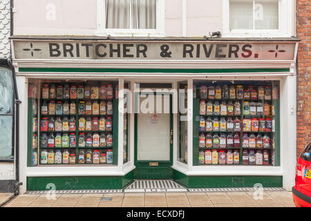 'Britcher and Rivers', an old fashioned sweetshop in Rye, Sussex, UK - Stock Photo