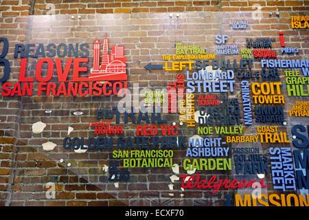 reasons to love San Francisco CA - Stock Photo